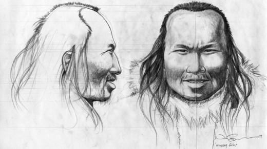 Artist's reconstruction of Inuk's appearance.