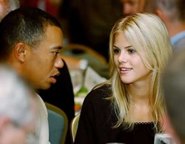 picture or image of Elin Nordegren wife of Tiger Woods and Tiger Woods himself