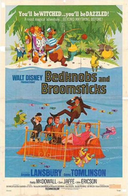 Bedknobs and Broomsticks bring sanimation to real life film in what was often known as the unrelated sequel to Mary Poppins!