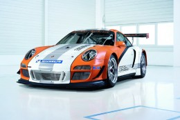 The Porsche 911 GT3 hybrid supercar (racing version)