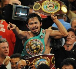 "Manny  ""Pacman"" Pacquiao is boxing champion in 7-world divisions"