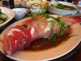 whole red fish