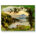 Vintage St. Patty's By the Lake Postcard. Find this at sandyspider on Zazzle.