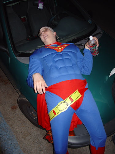"""Superman had some liquid Kryptonite to drink"" by Penningtron from Flickr. Original URL: http://www.flickr.com/photos/byebyeempire/1161313/"