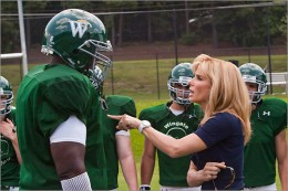 Sandra Bullock and Quinton Aaron do an fantastic job of representing these bigger than life people. The Blind Side was based on a true story.