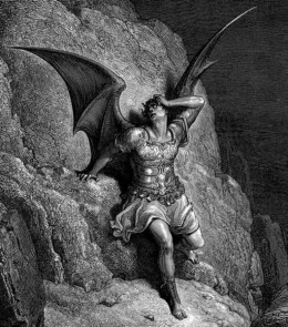 "ENGRAVING BY GUSTAVE DORE OF ""SATAN"""