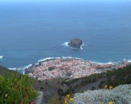 View over Garachico showing El Roque