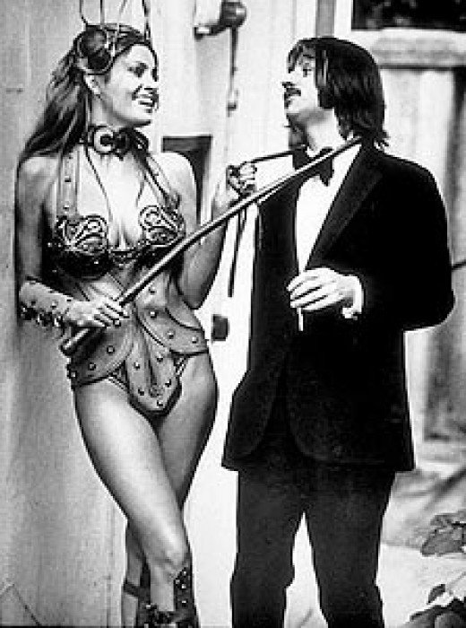 Ringo Starr and Raquel Welch on the set