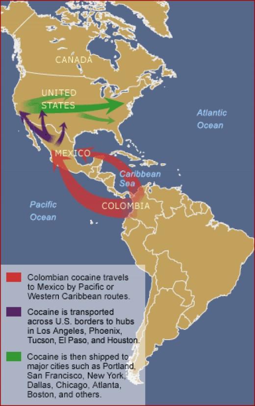 Drug Trafficking Map