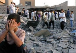 Real looser of war, The Children Iraq war by so-called democratic country