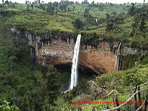 Sipi Falls, at lower end of Mt. Elgon National Park, Uganda.