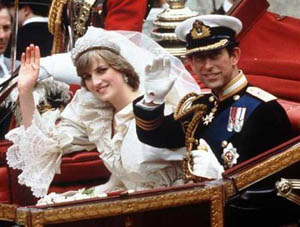 Prince Charles & Princess Diana's Wedding was viewed by 750 million TV viewers worldwide and 600,000 people lined the streets of London to get a glimpse of this rare event.