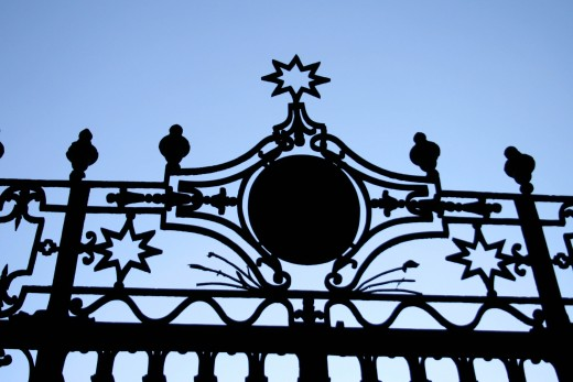 Metal Gates can have a very artistic look to them.