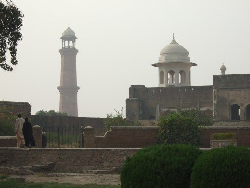 View of the Badshahi Mosque