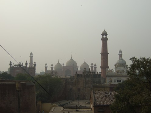 View of the Mosque and the Sikh Gurdwara from the Fort