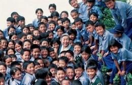 Ama Jetsun Pema with Children