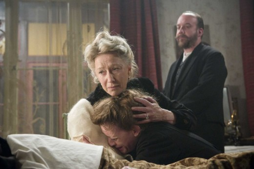 Helen Mirren, Paul Giamatti, Anne-Marie Duff at Tolstoy's Death Bed