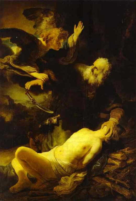 The Angel Stopping Abraham from Sacrificing Isaac to God. 1635. - photo courtesy of abcgallery.com