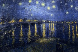 Vincent van Gogh's Starry Night Over the Rhone, painted in September 1888 at Arles, depicts the Rhne River at night. Photo courtesy of wikipedia commons