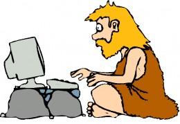 Caveman web surfer