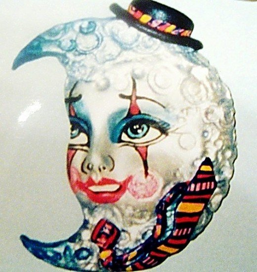 One of many moon faced pins that have sold well