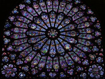 Notre Dame, north Rose Window