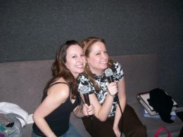 Me and a friend singin at Elvis Karaoke
