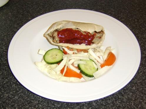 Healthy Doner Kebab Served