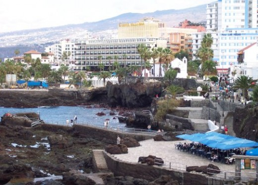 View over part of Puerto de la Cruz's seafront. Photo by Steve Andrews