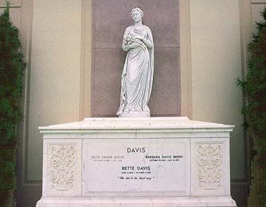 The final resting place of Bette Davis