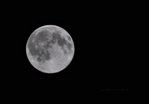 December is a dark month, but a full moon added light.
