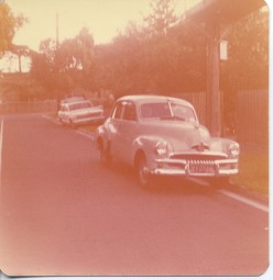 This is our 1956 FJ model Holden produced by GMHolden. It was still like new here after a complete rebuild. It was about 20 years old when this photo was taken.