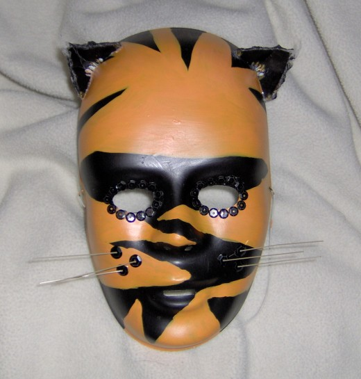 Painted plastic mask