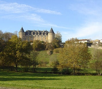 Rochechouart Castle, ten minutes from Les Trois Chenes Chambres d'hotes and gite.