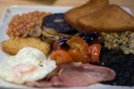 a full of Welsh's Breakfast