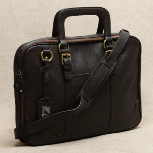 Trendy JCrew Leather Laptop Bag