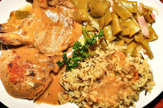 Delicious pork chops and gravy! Photo credit: jeffreyw @flickr