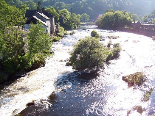 River Dee at Llangollen, Wales