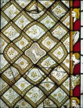 Exquisite Stained Glass Window a Decorators Delight