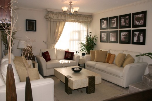 A nice living room with balanced furniture choices