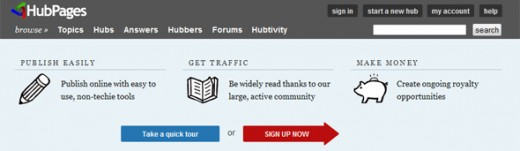 You can make money on HubPages too