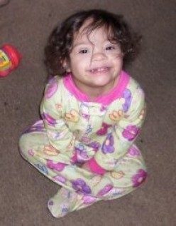 Jaydalyn was born with Down Syndrome. Here is my granddaughter at 3 years old.