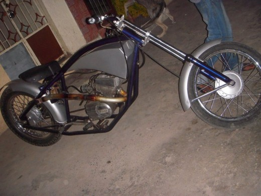 Homemade custom chopper side pic