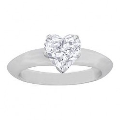 Heart Shaped Diamond Ring - Symbol of Endless Love