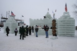 People Around The Ice Castle