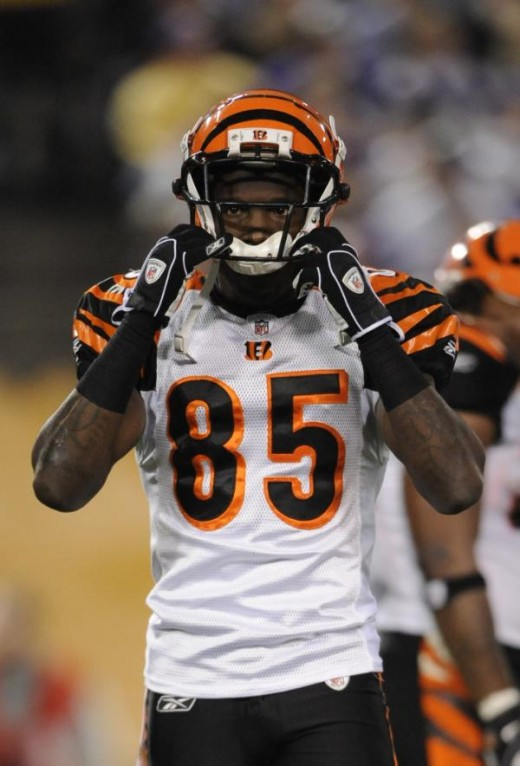 Cincinnati Bengals' Chad Ochocinco is seen during the first half of an NFL football game against the Minnesota Vikings Sunday, Dec. 13, 2009, in Minneapolis. (AP Photo/Hannah Foslien)