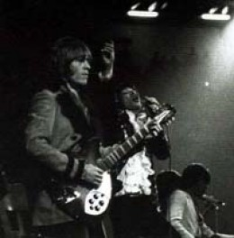 Brian touring with the Stones in 1966