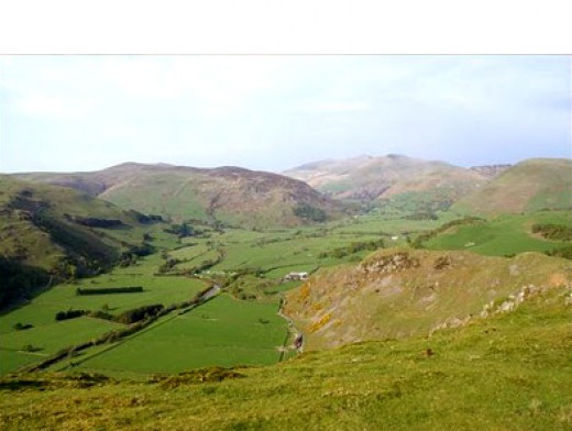 View from hairpin bend in Wales