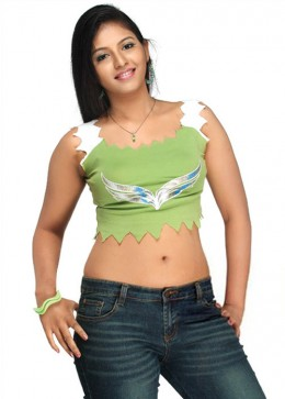 Beautiful Navel Show Actress Anjali