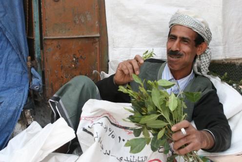 Yemeni qat seller.